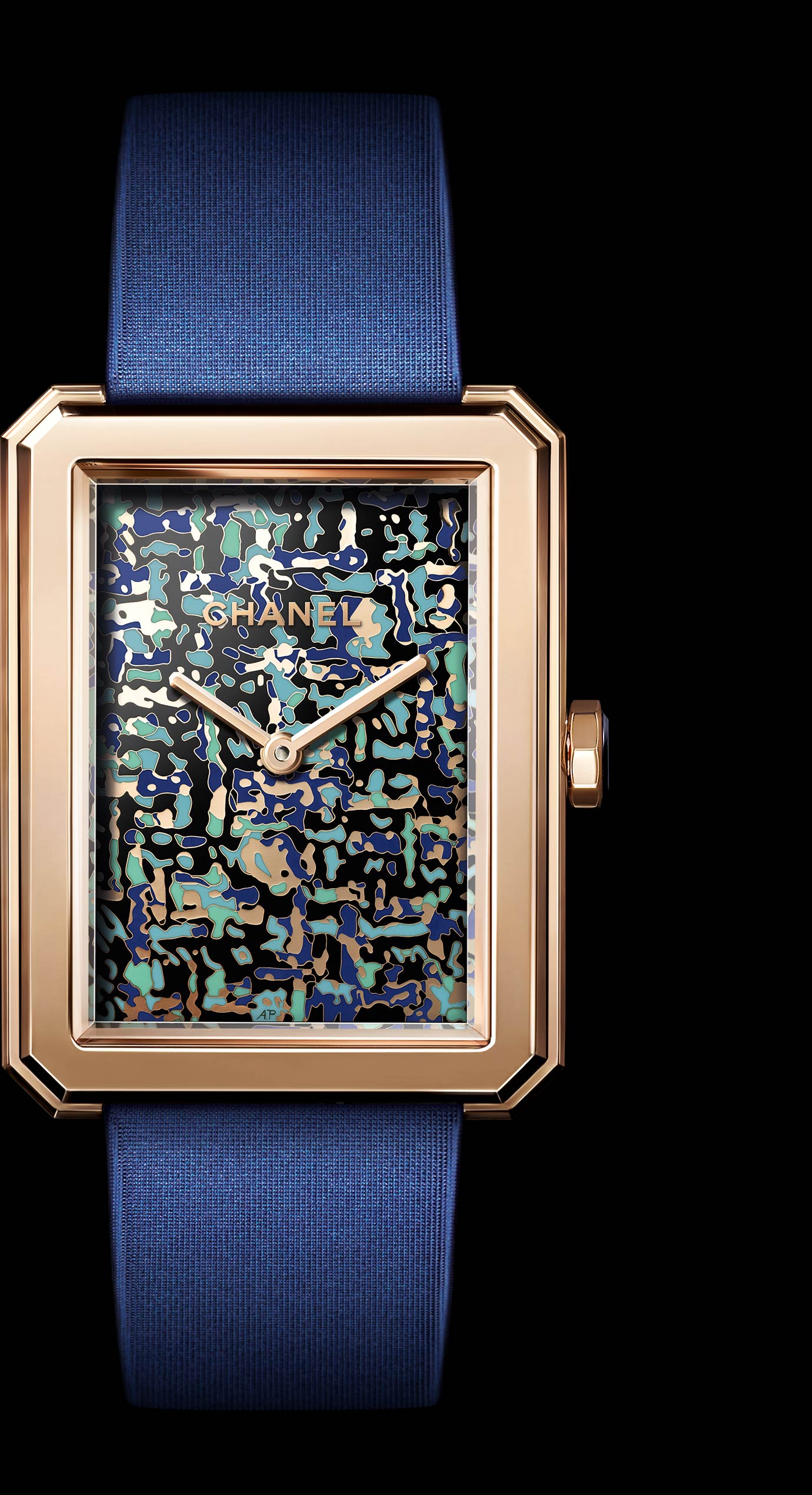 BOY FRIEND TWEED ART WATCH IN 18K BEIGE GOLD - Enlarged view