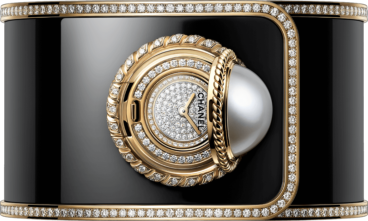 H6471 Mademoiselle Privé Bouton watch open view