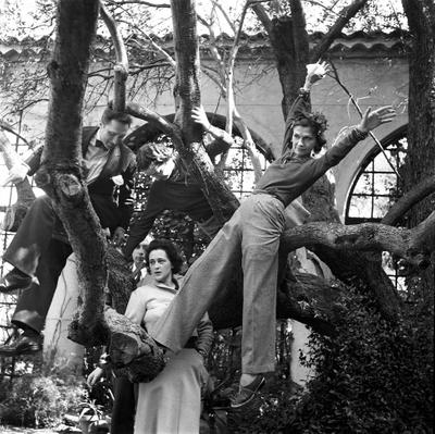 Gabrielle Chanel in garden of La Pausa villa in Roquebrune, 1938.