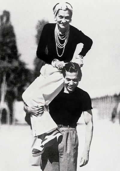 Gabrielle Chanel and her friend the dancer, Serge Lifar, 1937