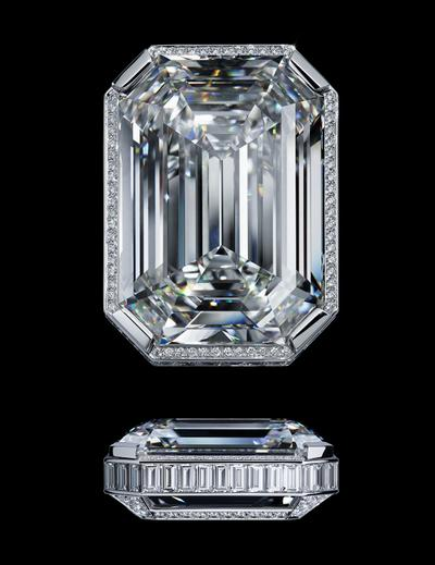 View of the 55.55-ct diamond - Le Stopper
